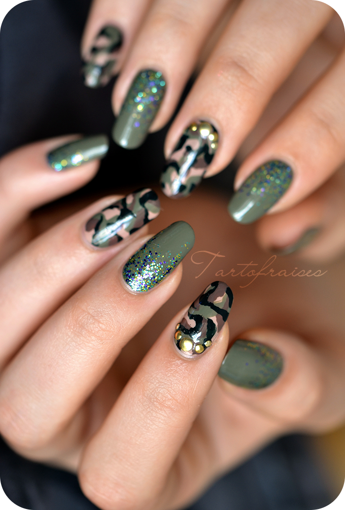 Nail art Army camouflage militaire - Nail Art Army Camouflage Militaire Aidans 7th Bday Pinterest