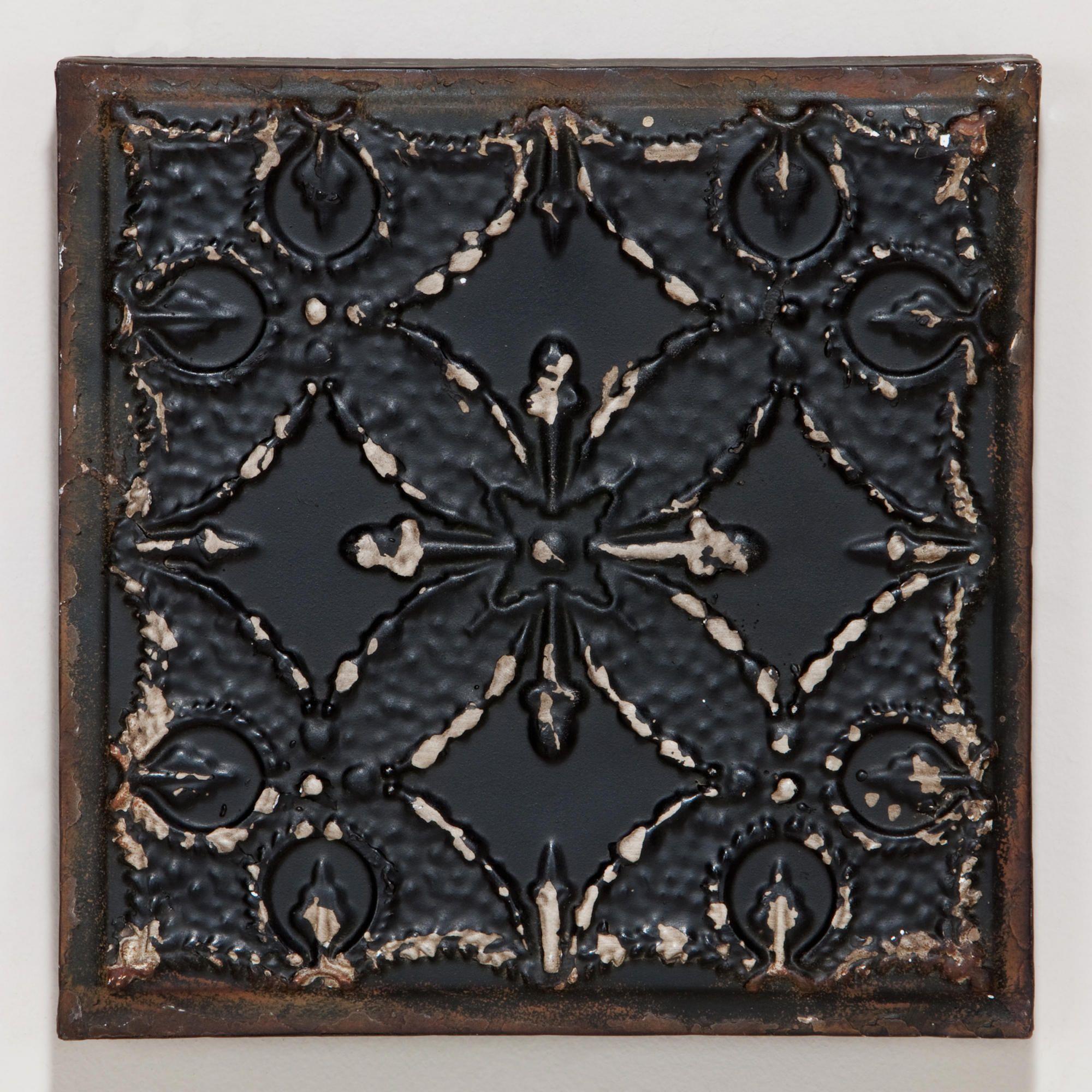 Tile Plaques Home Decor Black Venetian Tile Plaque  Venetian Wall Decor And Nest