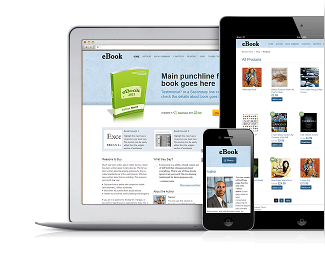 eBook V2 Responsive WordPress Book Theme | WordPress Themes ...