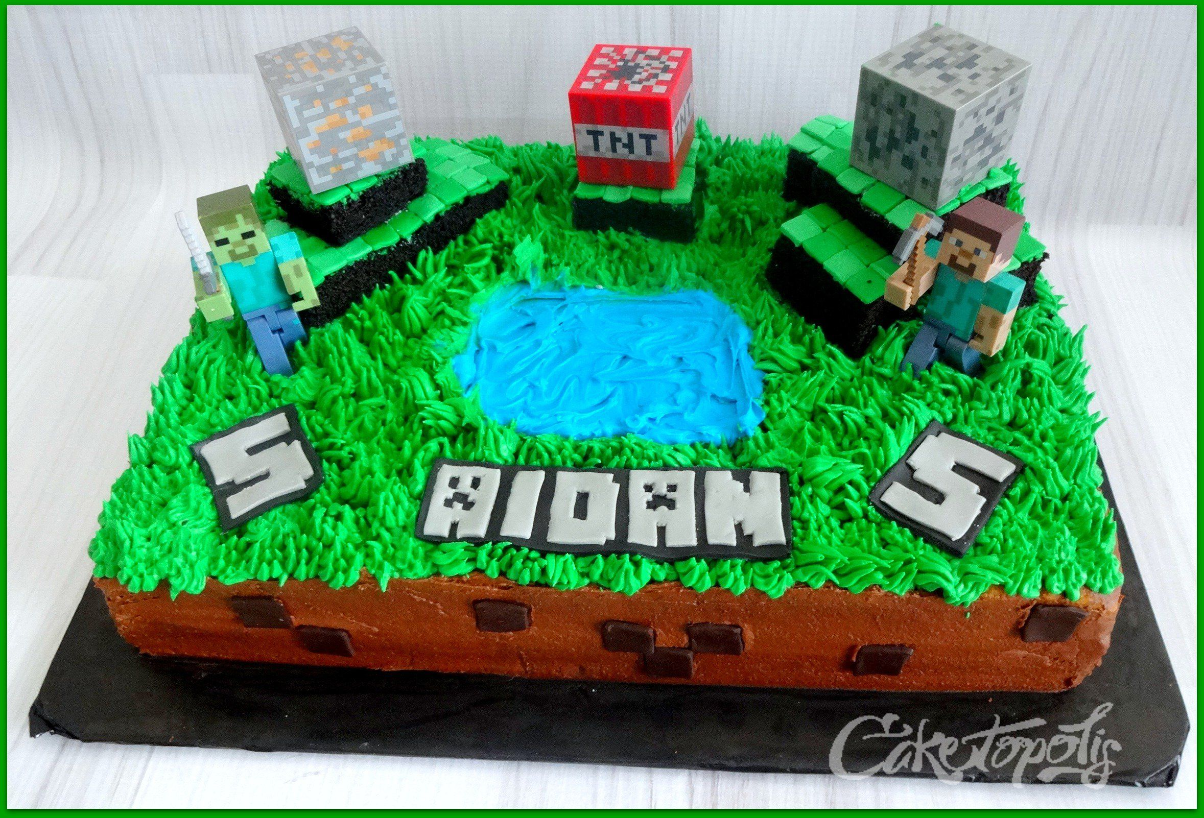 Minecraft Figures for Cakes Minecraft themed sheet cake Toys
