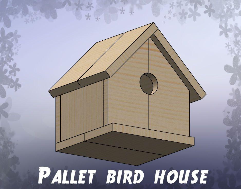 Pallet Bird House | Bird house, Woodworking wood types ...