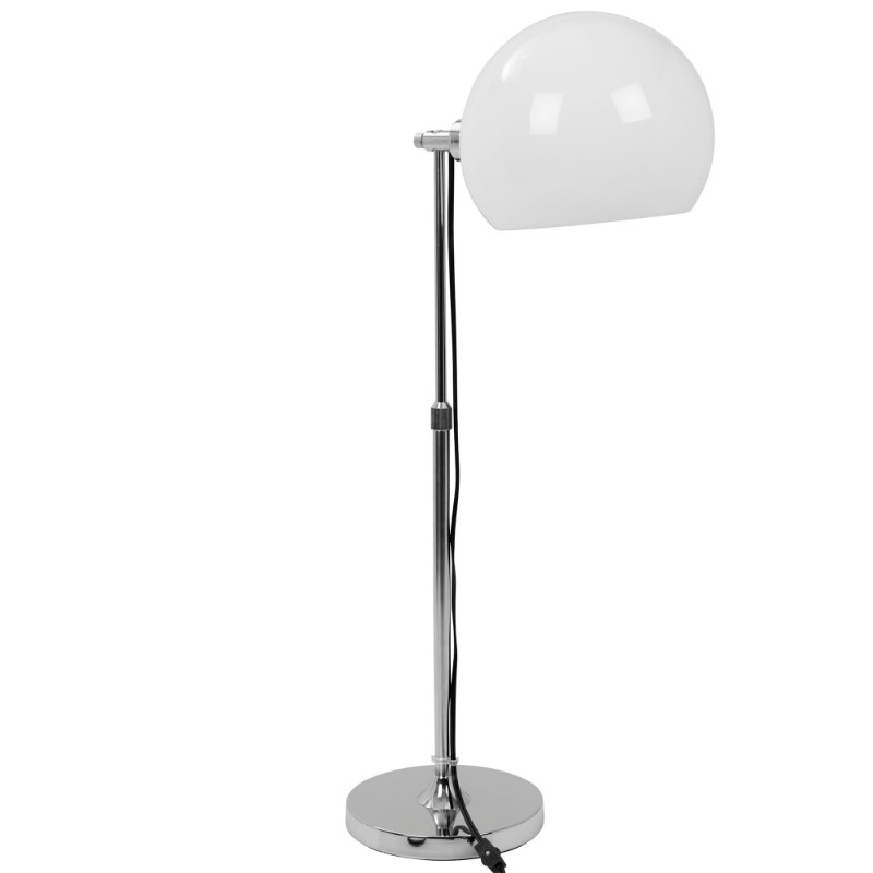 Decco Contemporary Adjustable Table Lamp In Chrome With White Shade Adjustable Table Lamps Contemporary Table Lamps Adjustable Table