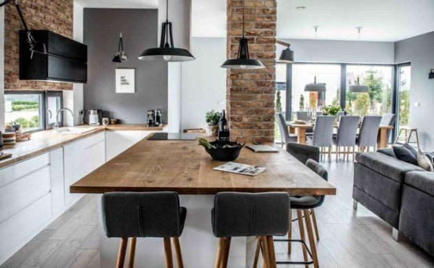 offener wohnplan esstisch wohnzimmer kueche essraum sofa kitchen - wohnzimmer mit offener küche