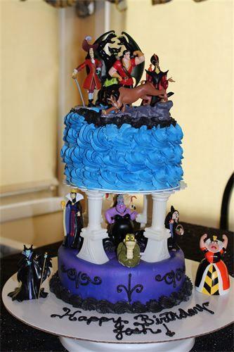 Disney Villains Birthday Cake Google Search Art