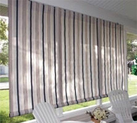 Elegant Outdoor Privacy Curtain Fabric | Sunbrella Textilene Fabric Outdoor Roll Up  Window Curtains