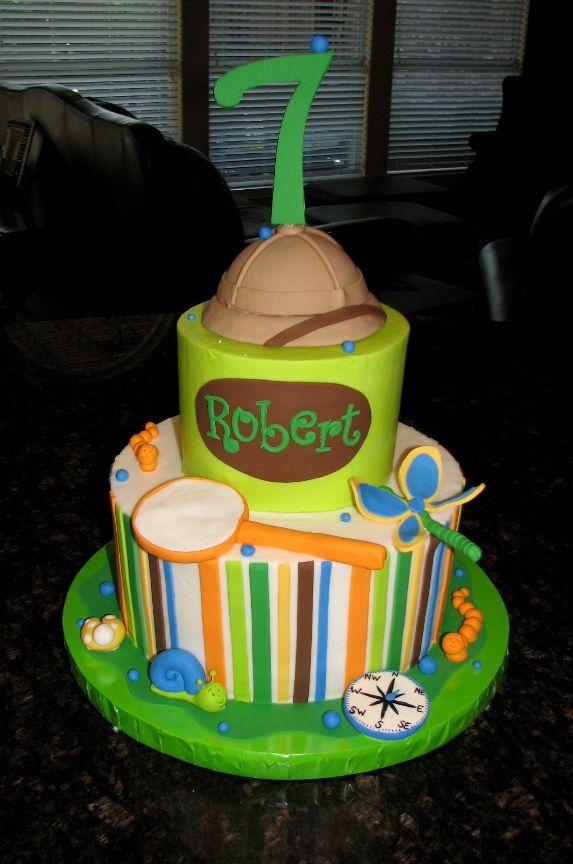 https://flic.kr/p/d2eAu5 | Robert's Safari cake | I  made this one for a friend's little boy who was having a 'non animal safari cake'.  Fun theme!