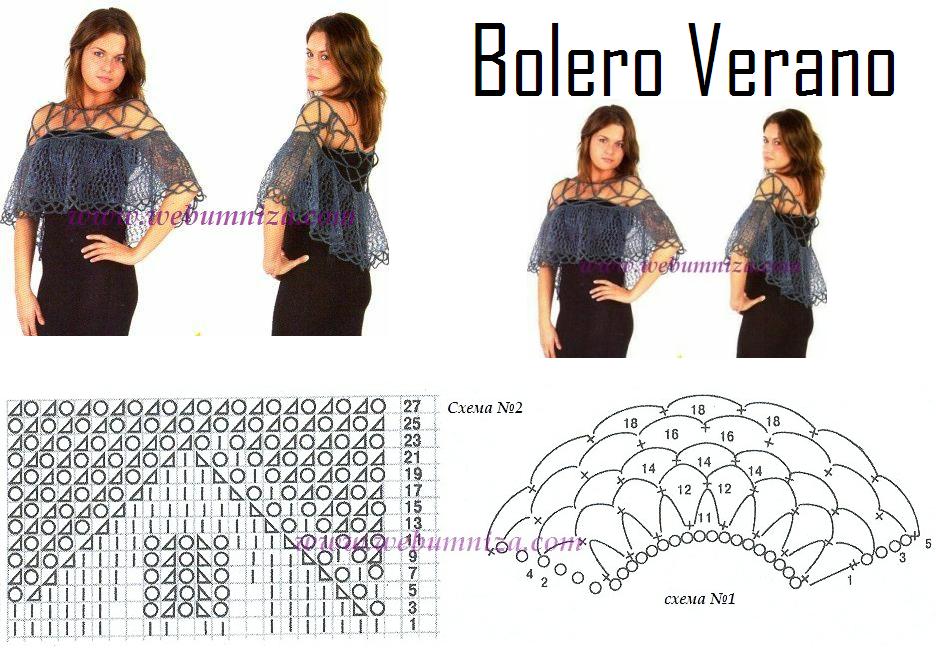 Capa Cuello Verano Patron - Patrones Crochet   tejido   Pinterest ...