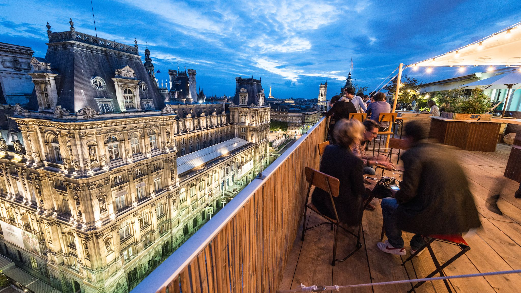 Dine and drink while enjoying some of the best views of Paris.
