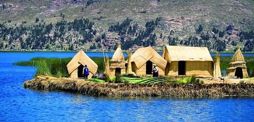 Floating Islands of Lake Titicaca. Located on the high mountains of the Andes Lake Titicaca is the unique creations of human hands – it's an amazing invention by the Uros tribe people – floating island. These islands made of reeds are still inhabited by Uros tribe. For many years they have firmly settled on the floating islands, built houses, boats, and even schools for children. Reed is considered to be sufficiently flexible material from which the boats are built, very light, well kept on…