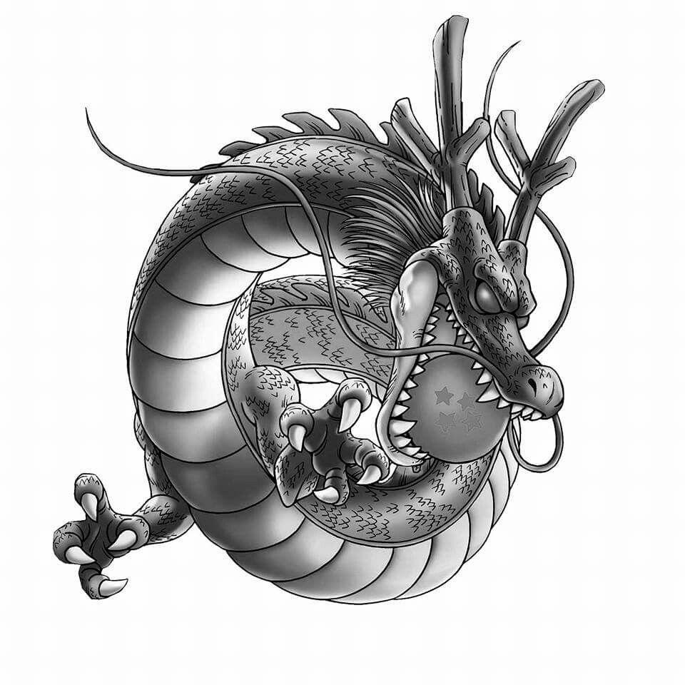 Shenron 4 Star Ball Dragon Ball Tattoo Dragon Ball Art Dbz Tattoo