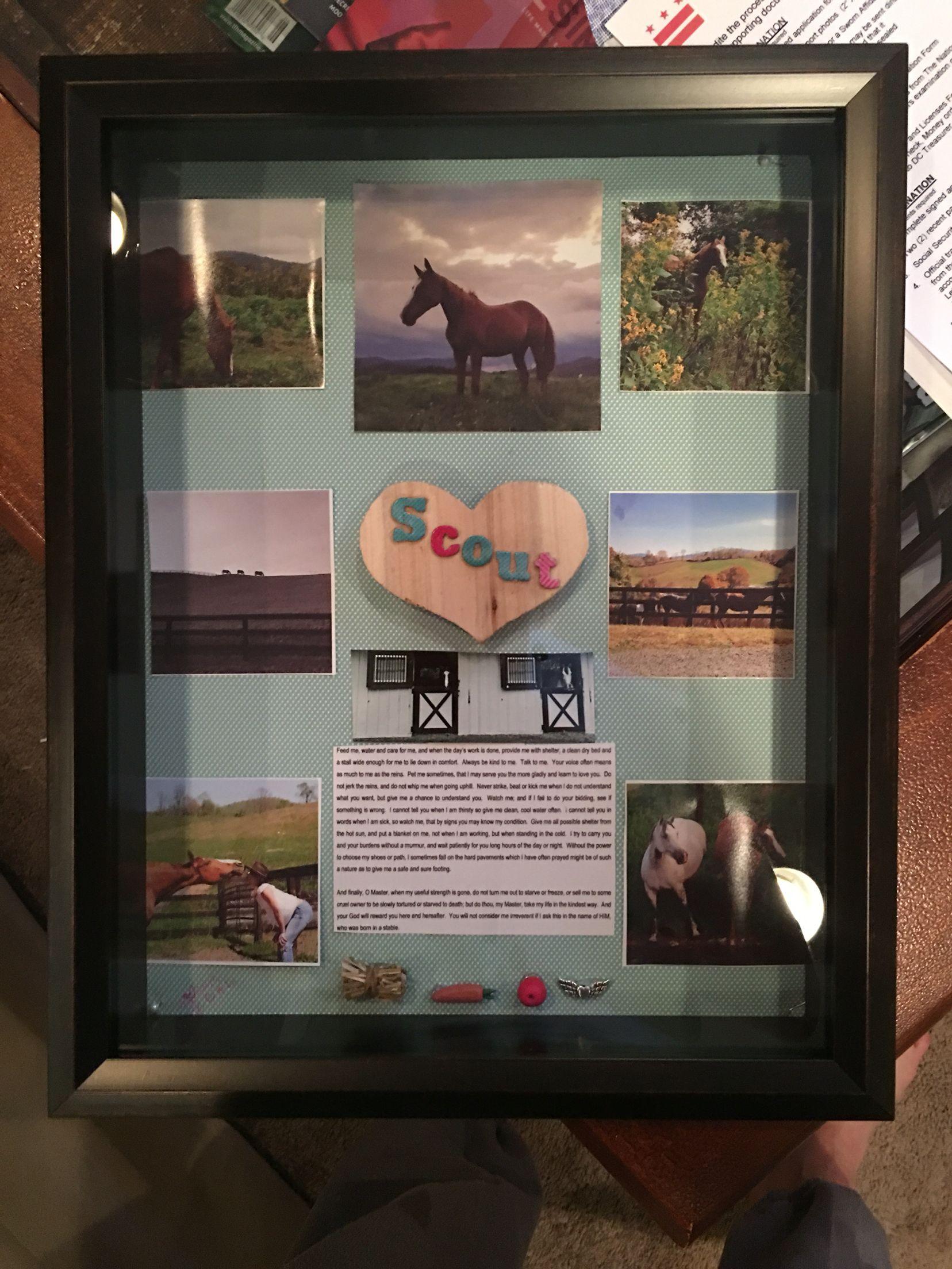 horse memorial memory box shadow box horse 39 s prayer diy horse shadow box horses horse. Black Bedroom Furniture Sets. Home Design Ideas