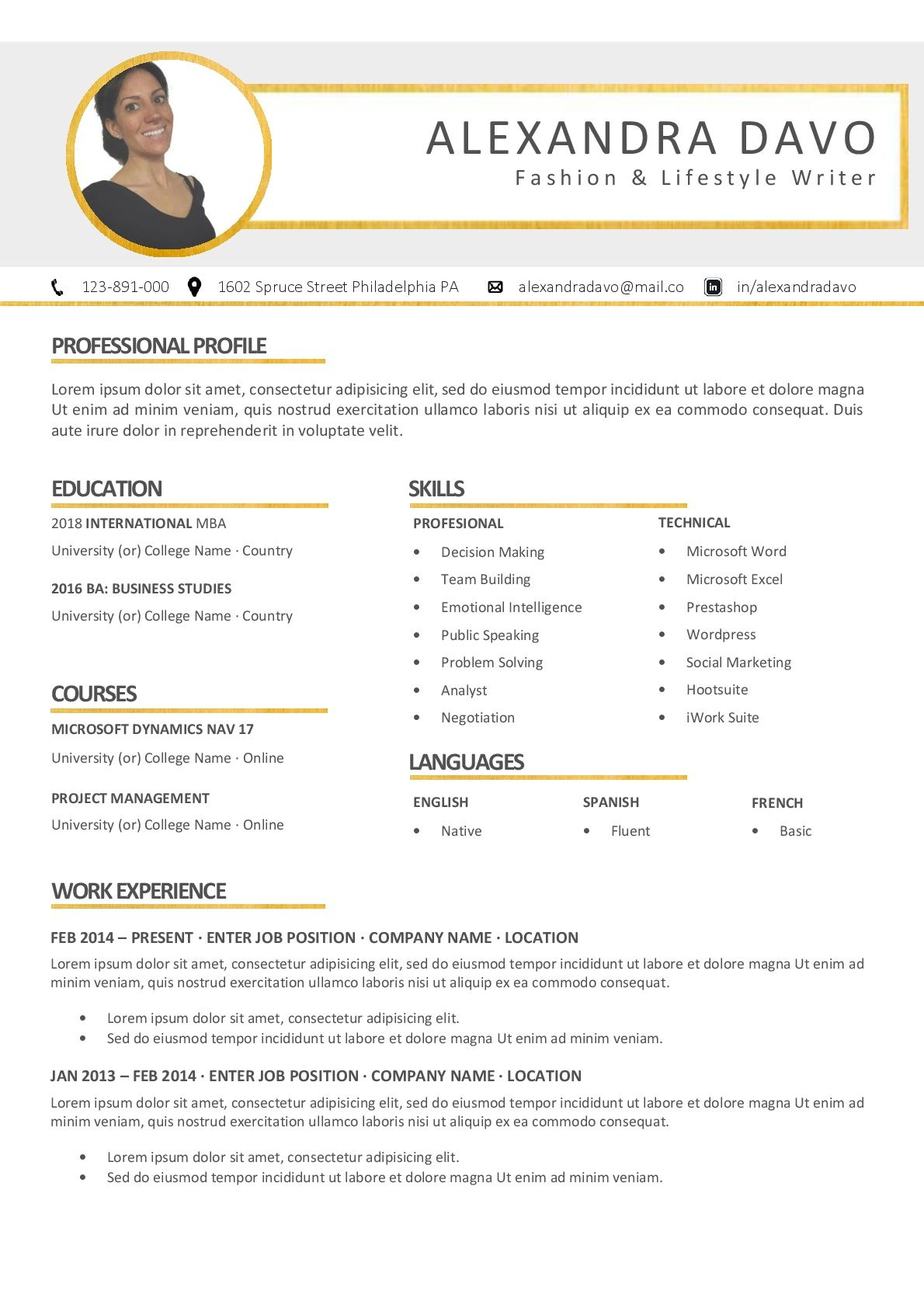 Word Resume & Cover Letter Template #resume #cv #CVTemplate ...
