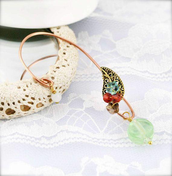 Mint garden ear wraps EW by sophinegiam on Etsy