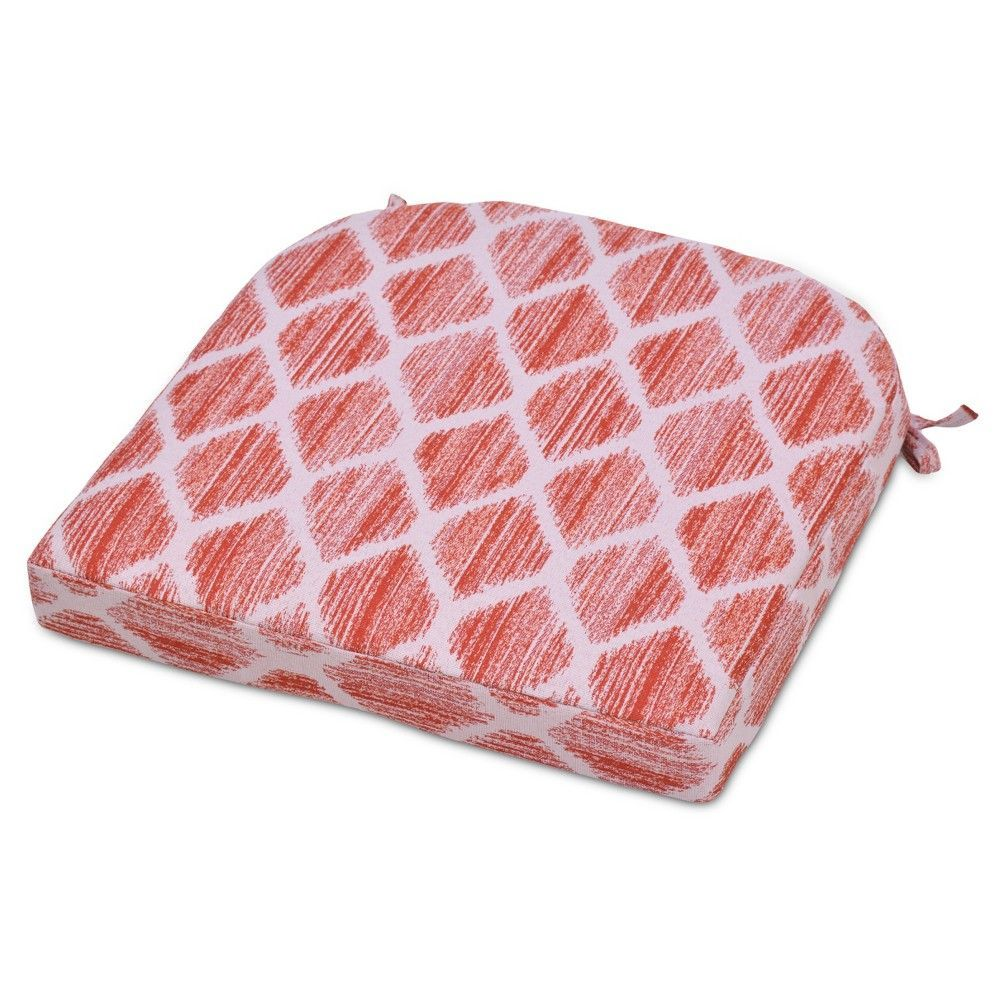 Round Back Seat Cushion Brushed Diamond Coral Pink Threshold