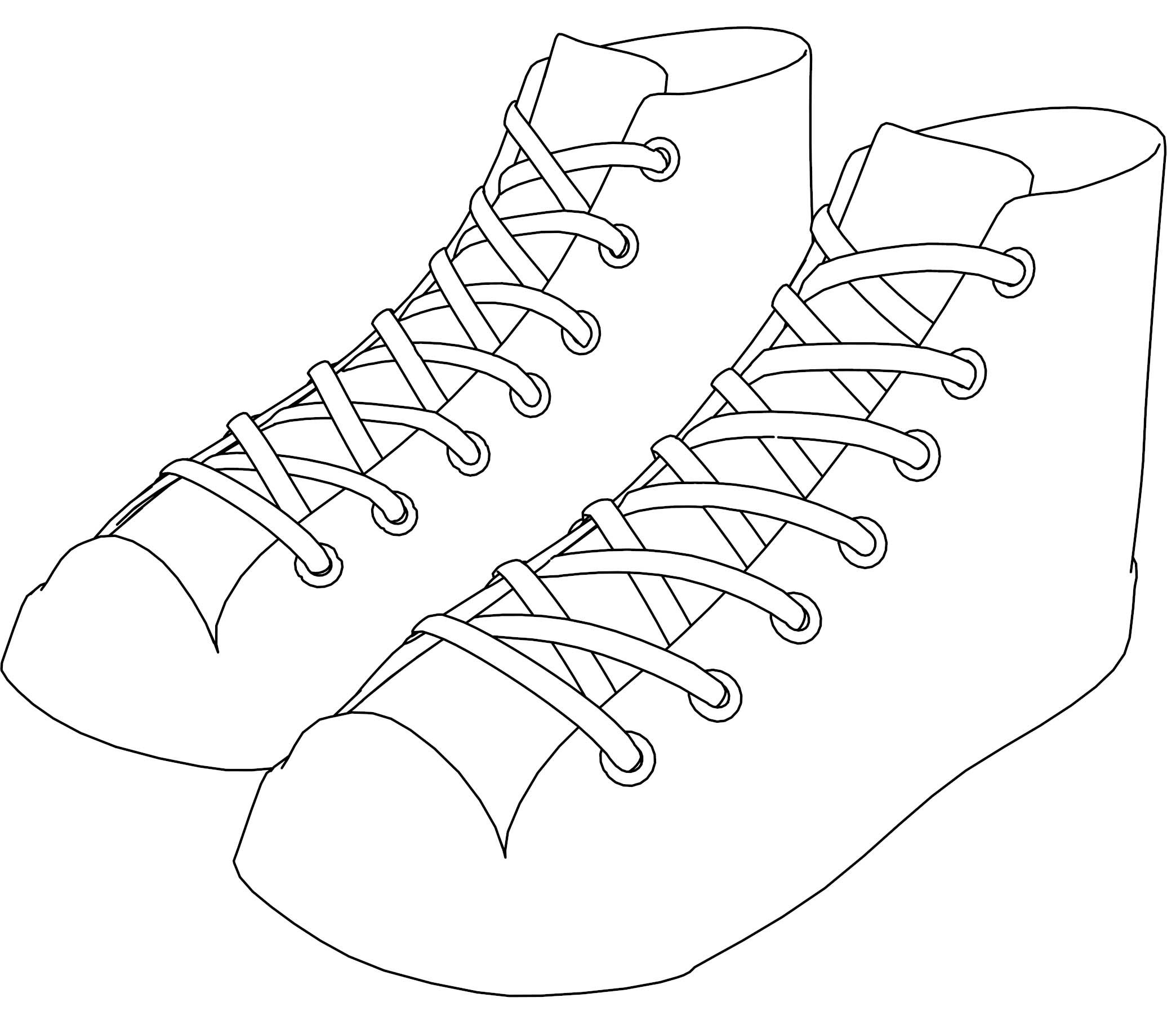 Awesome Sneakers Converse Shoes Coloring Page Converse Shoes