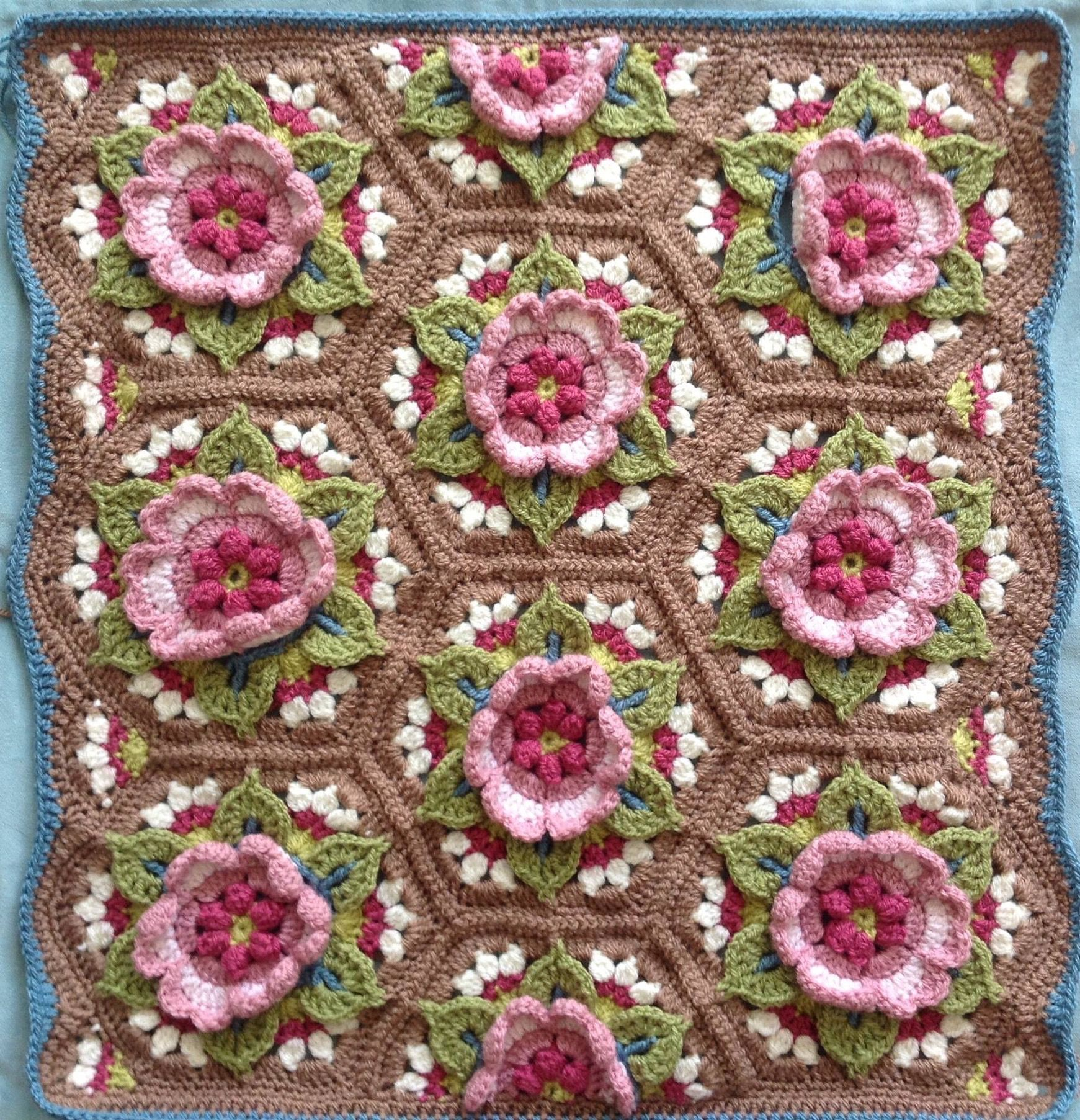 Rose Afghan | Crochet Patternsc | Pinterest | Deckchen, Häkeldecke ...