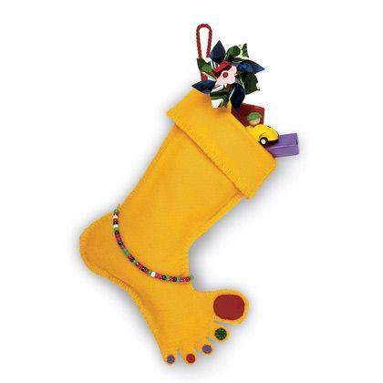 Bare Foot Christmas Stocking Craft