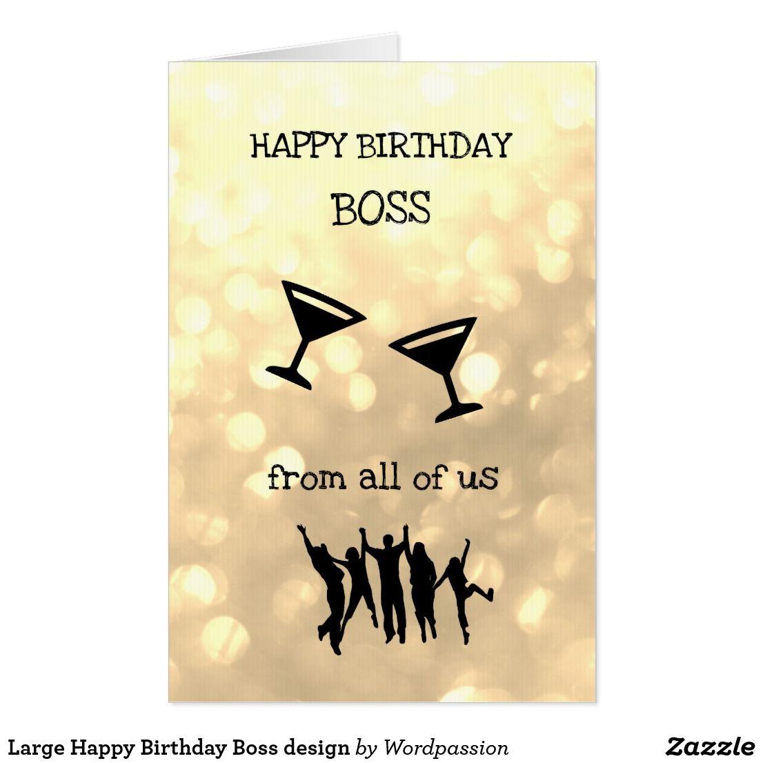Large Happy Birthday Boss Design
