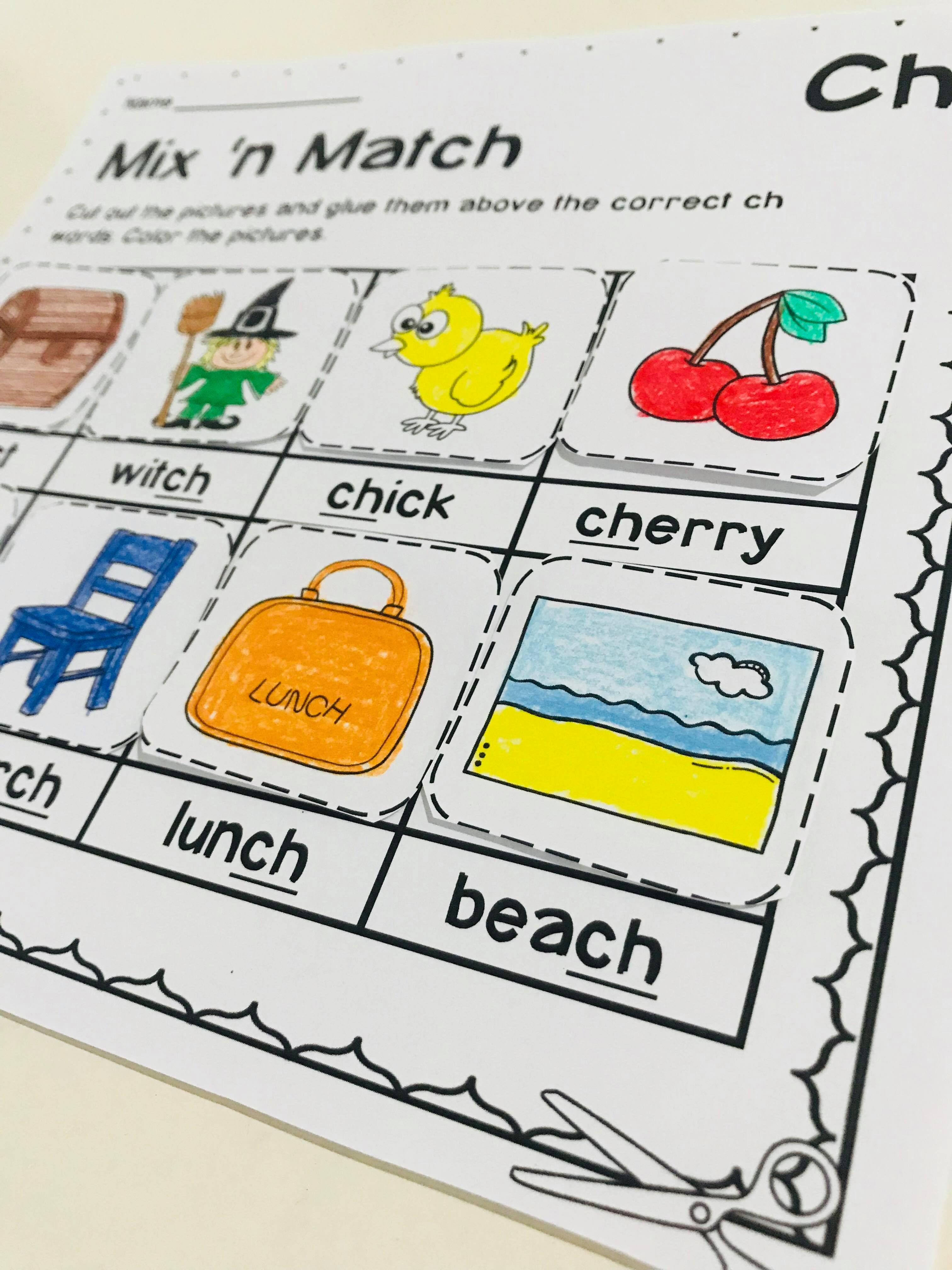 Ch Digraph Worksheets