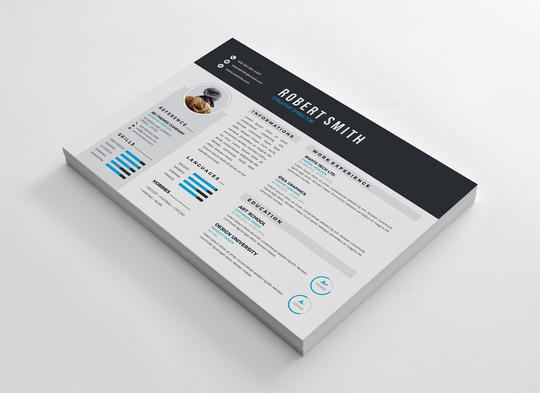 Vienna Professional Resume Design Template 5 Resumedesign