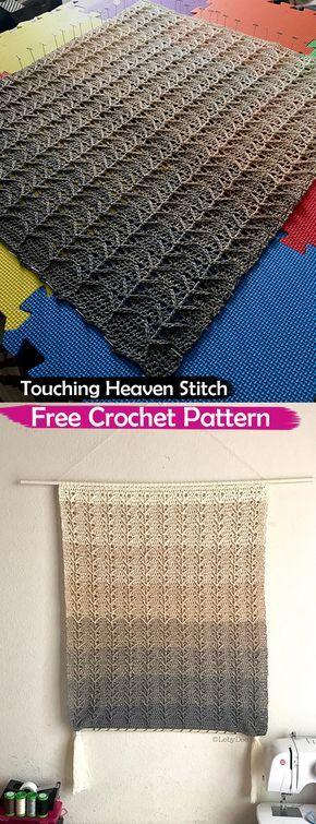 Touching Heaven Stitch Free Crochet Pattern Crochet Crafts Homedecor Style Ideas Homemade Handmade Crochet Stitches And Tips Pinterest Croche