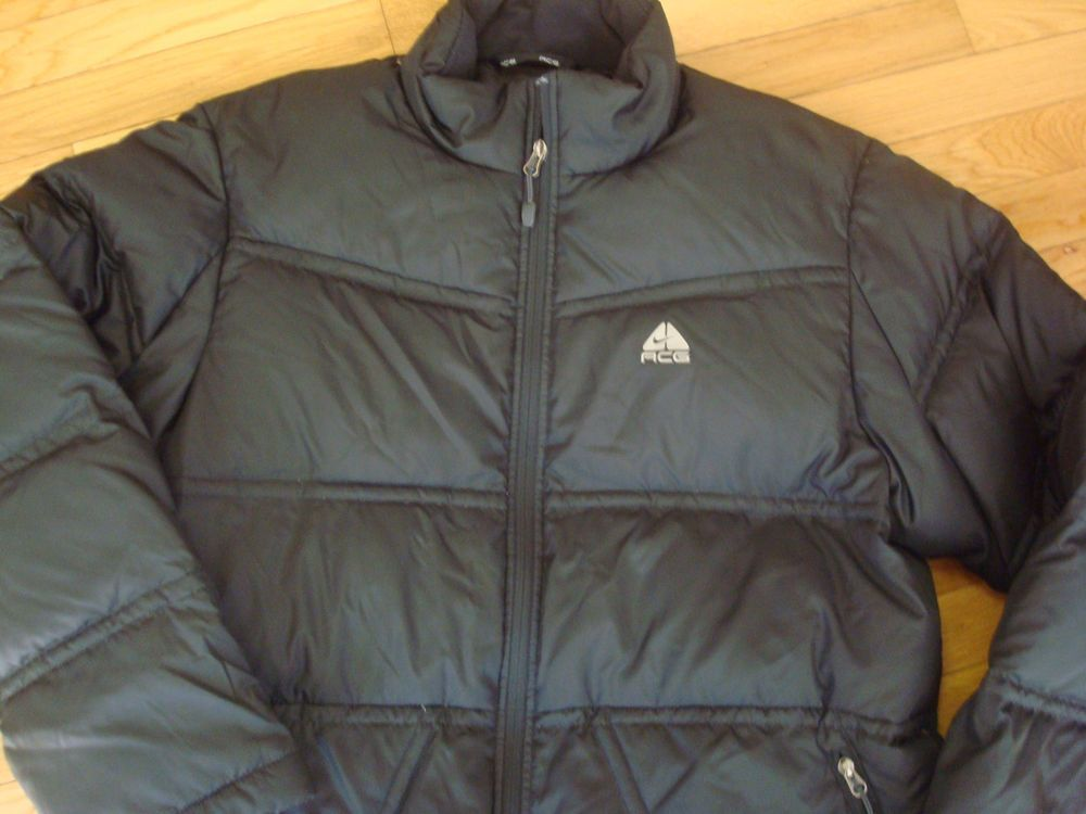 c6d99671cf36 Nike Goose Down Puffer Winter Jacket Black Mens Large ACG 3  NIKE  Puffer