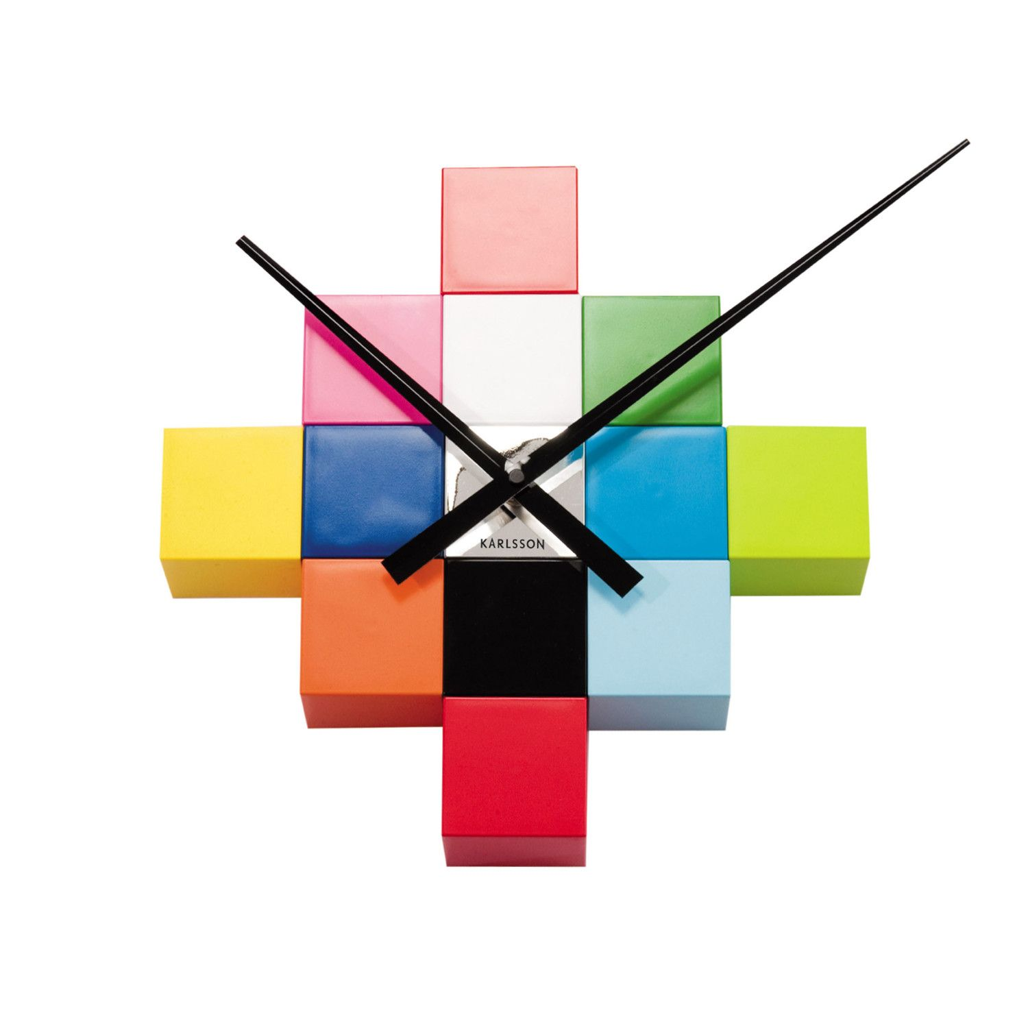 Cubic clock colours pinterest clocks wall clocks and walls buy karlsson diy cubic wall clock in multi colour from our clocks range at tesco direct we stock a great range of products at everyday prices amipublicfo Image collections