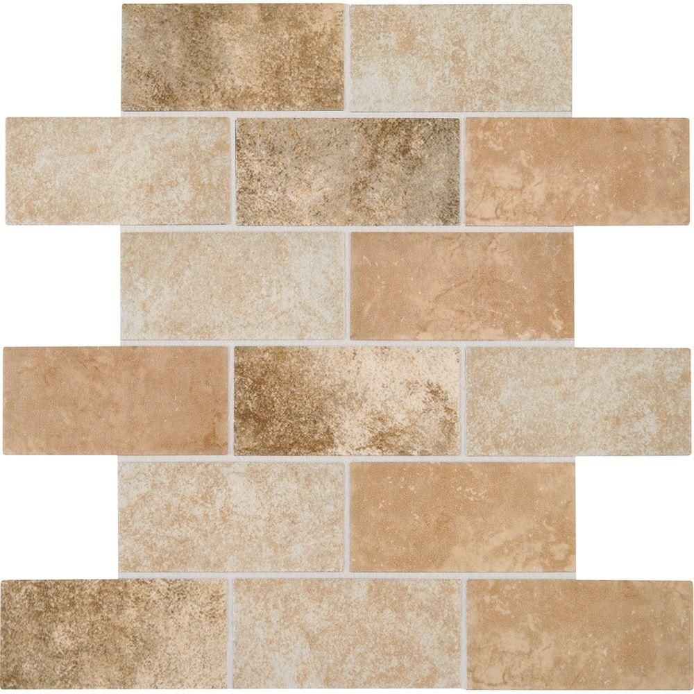 Daltile grand cayman oyster blend 12 in x 12 in x 8 mm ceramic daltile grand cayman oyster blend 12 in x 12 in x 8 mm ceramic brick joint mosaic tile dailygadgetfo Image collections