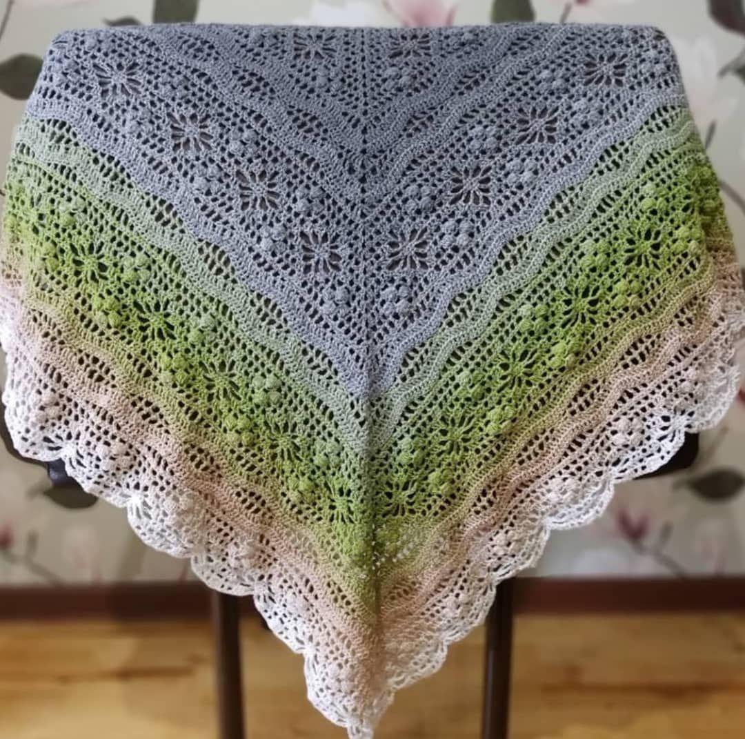 Crochet Knitting Handicraft: shawl Blanket and tablecloths