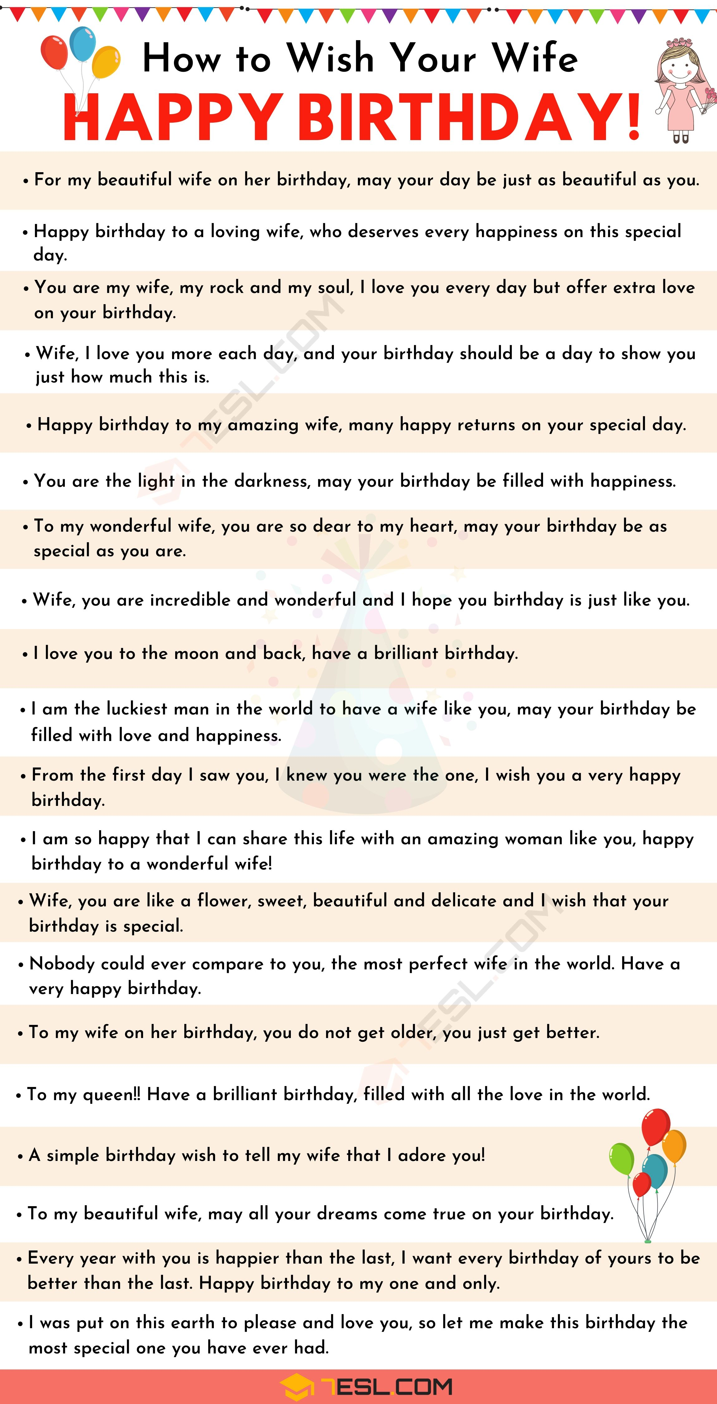 Birthday Wishes 500 Meaningful Happy Birthday Messages For Everyone 7esl Birthday Wishes For Wife Happy Birthday Wishes Quotes Birthday Wishes