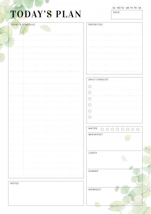 Kostenlose Pdf Wochen Planer Essensplan Printables 7