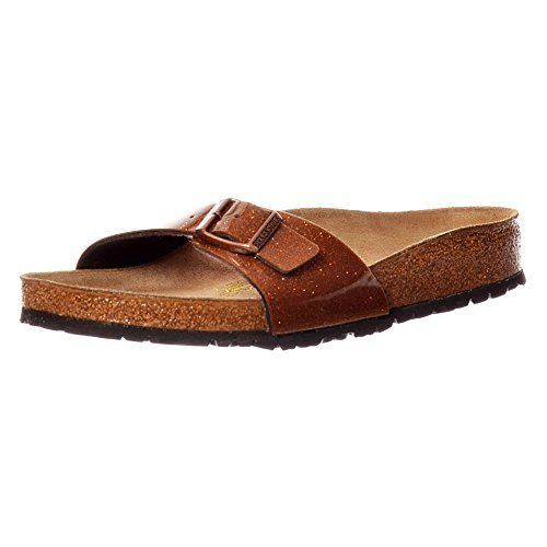 Birkenstock MADRID Ladies Glitter Buckle Sandals Bronze UK4  EU37  US6  AU5 >>> Read more reviews of the product by visiting the link on the image.