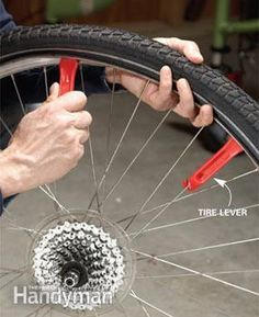 How to Change a Bike Tire #familyhandymanstuff