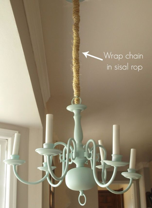 Diy chandelier makeovers mint and sisal rope chandelier redo diy chandelier makeovers mint and sisal rope chandelier redo easy ideas for old brass crystal and ugly gold chandelier makeover cool before aloadofball Choice Image