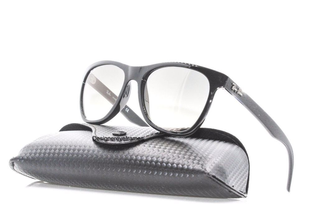 3e6d86cc9a Ray Ban RB 4184 601 32 Shiny Black Gray Gradient Designer Sunglasses NWC  AUTH