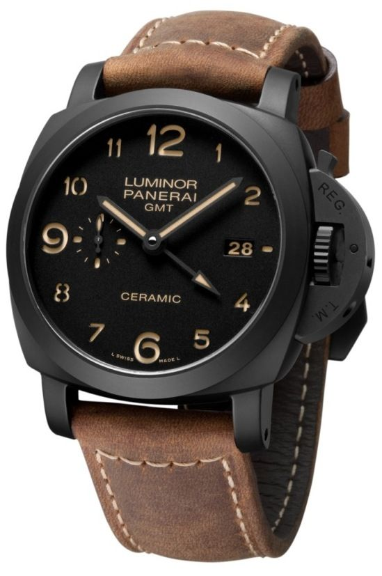 3605133cc6b Panerai (PAM 441) Luminor 1950 3 Days GMT Automatic Ceramica ...