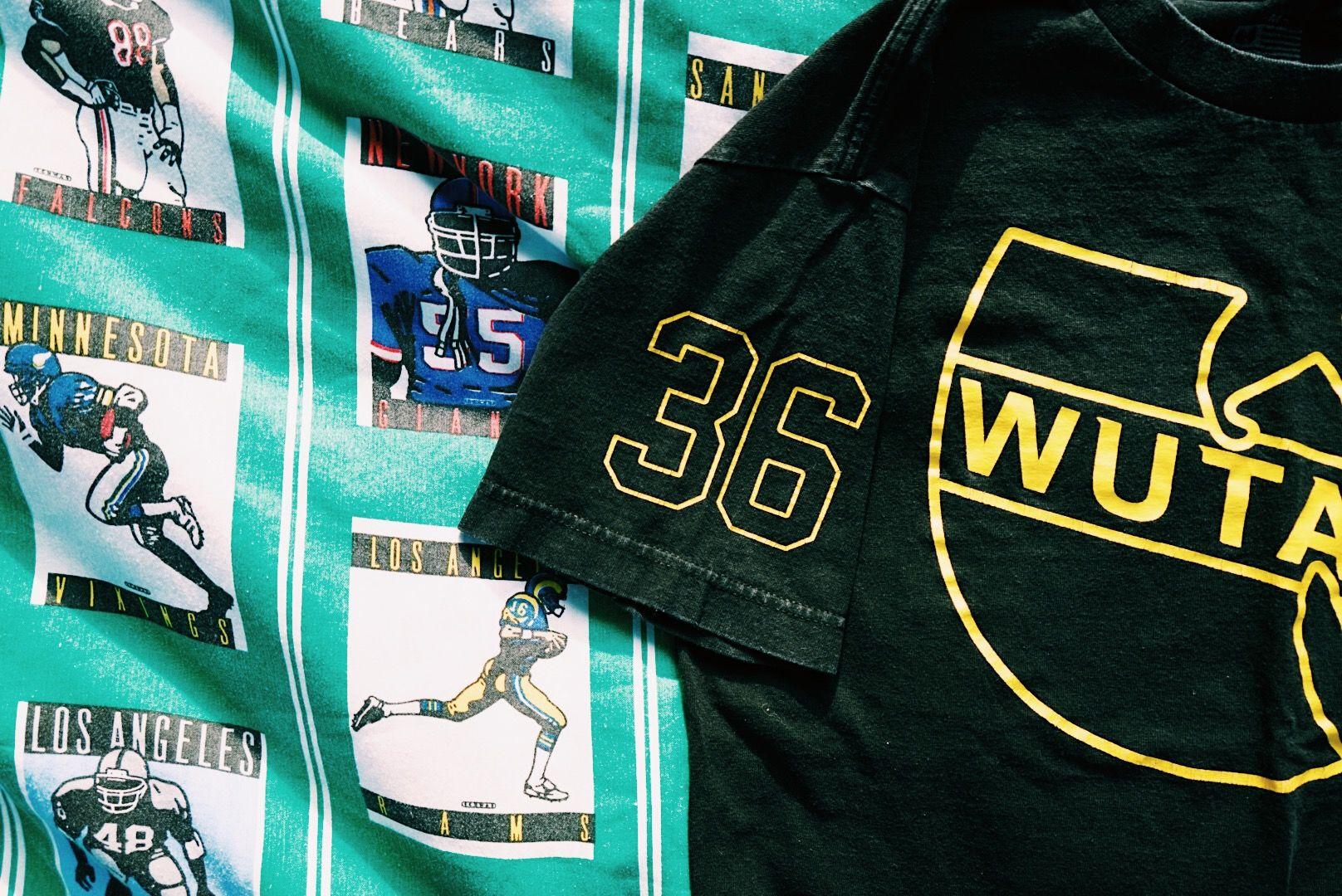 WU-TANG Crop Top / Black / T Shirt / Raw Edge / Medium