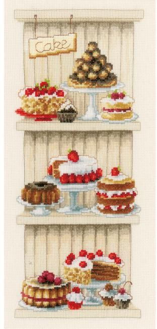 delicious cakes - cross stitch kit | cross stitch cuisine