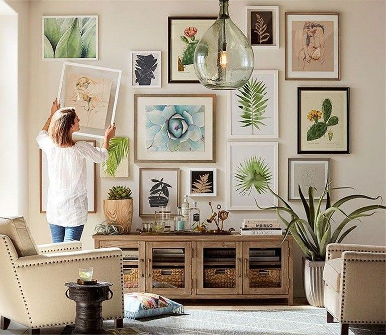 45 Creative Living Room Wall Gallery Design Ideas Page 12 Of 47 In 2020 Eclectic Decor Modern Wall Decor Decor