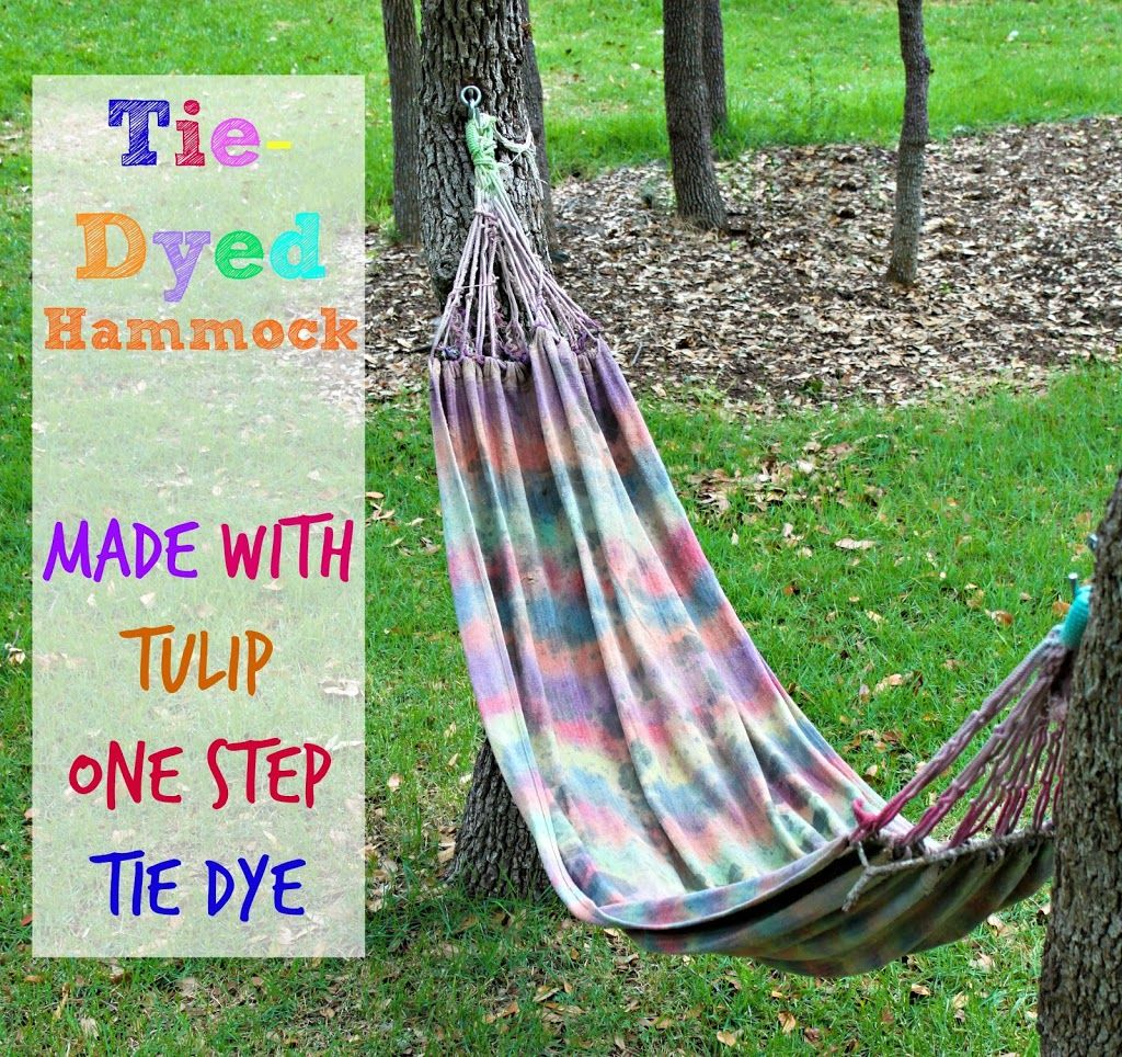 Make Your Own Tie Dyed Hammock Diy Dye Tie Dye Diy Hammock
