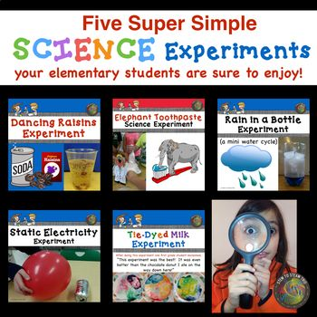 Bundle Five Super Simple Science Experiments Tpt Great Finds