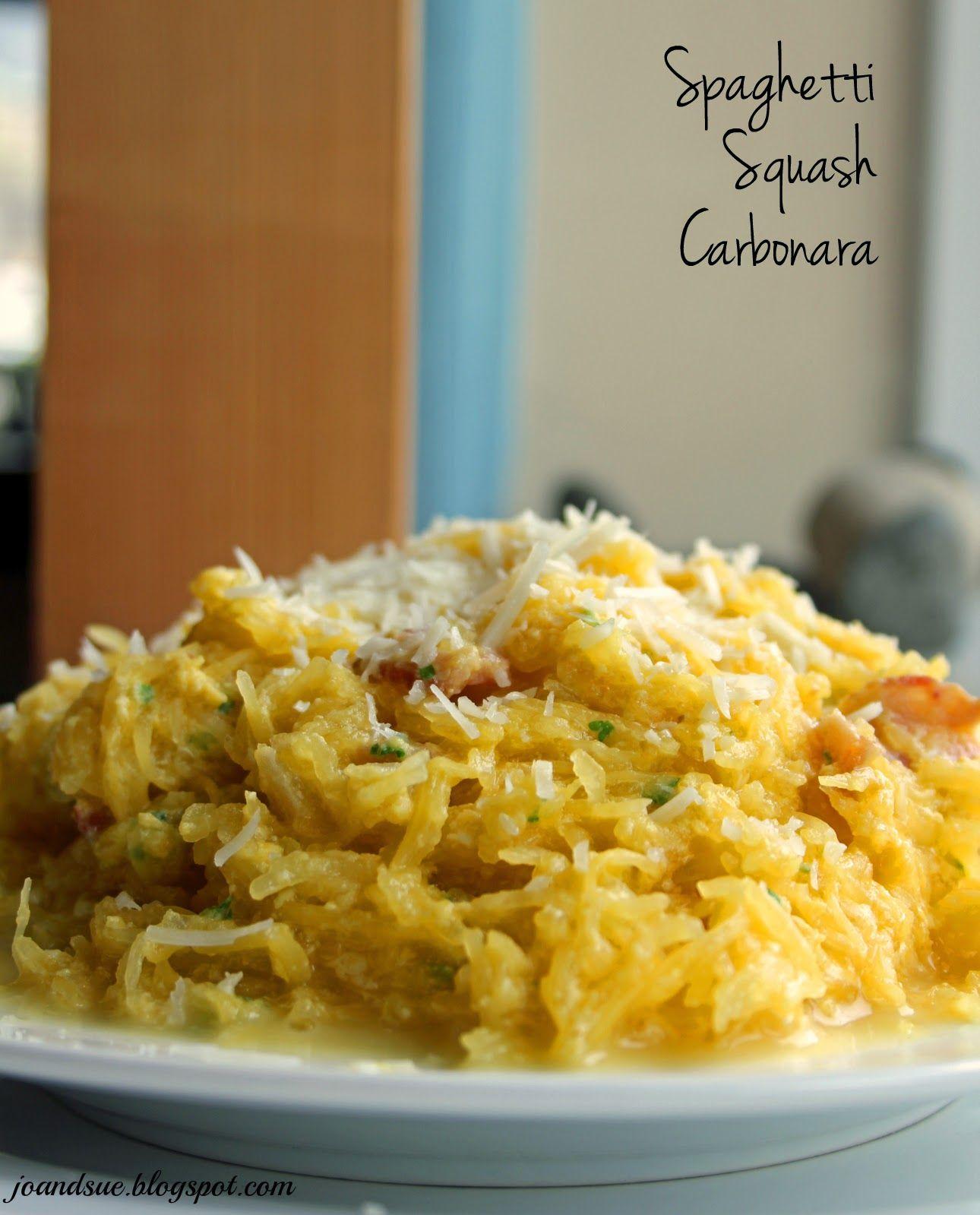 Jo and Sue: Spaghetti Squash Carbonara