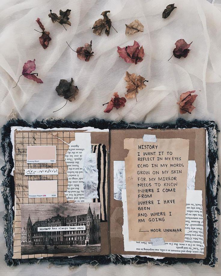 Photo of – geschichte // kunstjournal + poesie von noor unnahar // journaling scrapbookin…