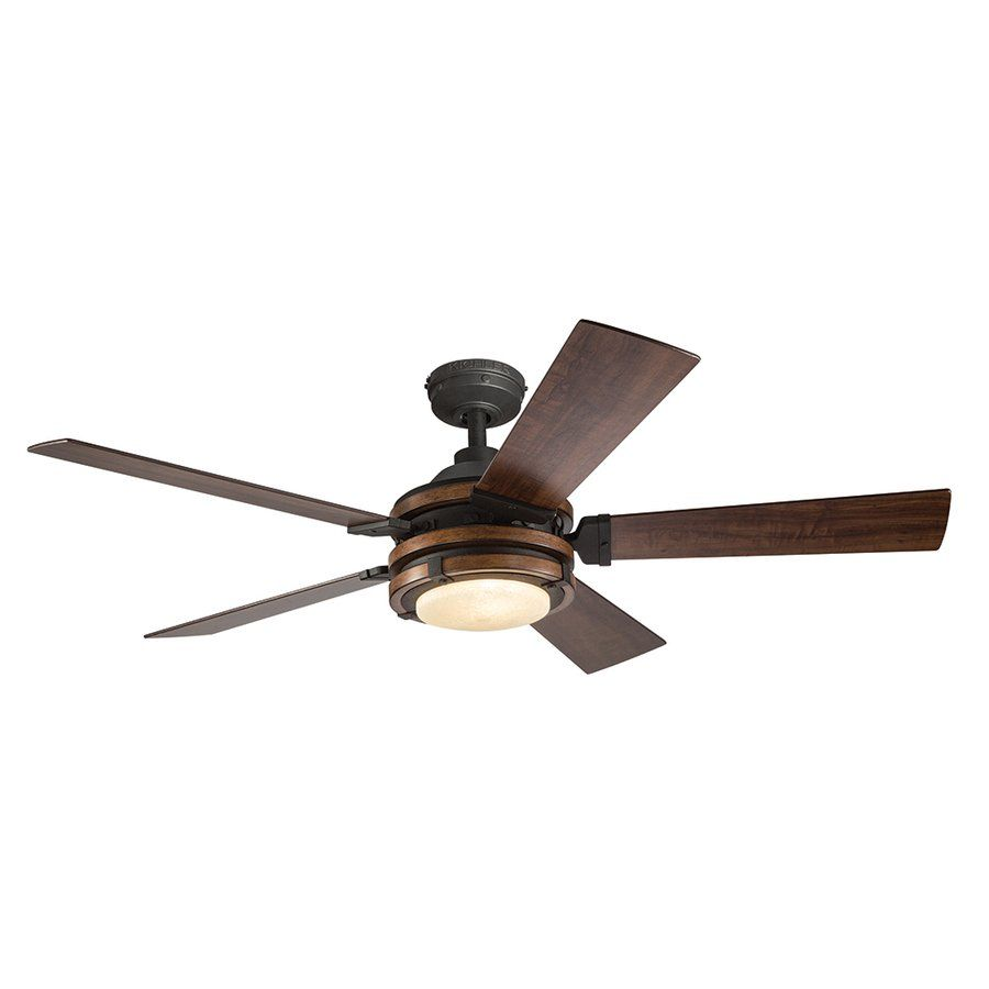 Kichler Lighting 52 In Distressed Black And Wood Ceiling Fan At Lowe S Canada Find Our Selection Of Fans The Lowest Guaranteed With