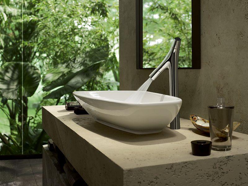 Axor Starck Organic: The new faucet as High Riser.