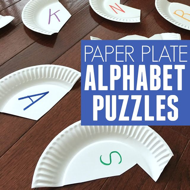 Paper plate alphabet puzzles! The perfect activity for tot school preschool and the & Alphabet Paper Plate Puzzles | Tot school Kindergarten and Activities