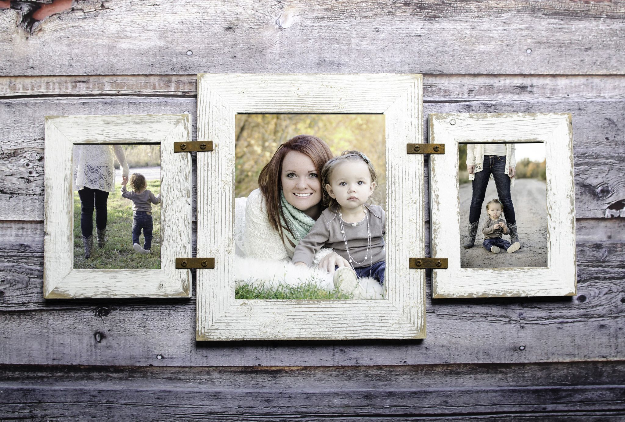 Barnwood Collage Frame 2 Hole 5x7 And 1 Hole 8x10 Multi Opening Frame With Images Rustic Picture Frames Rustic Decor Rustic Wallpaper