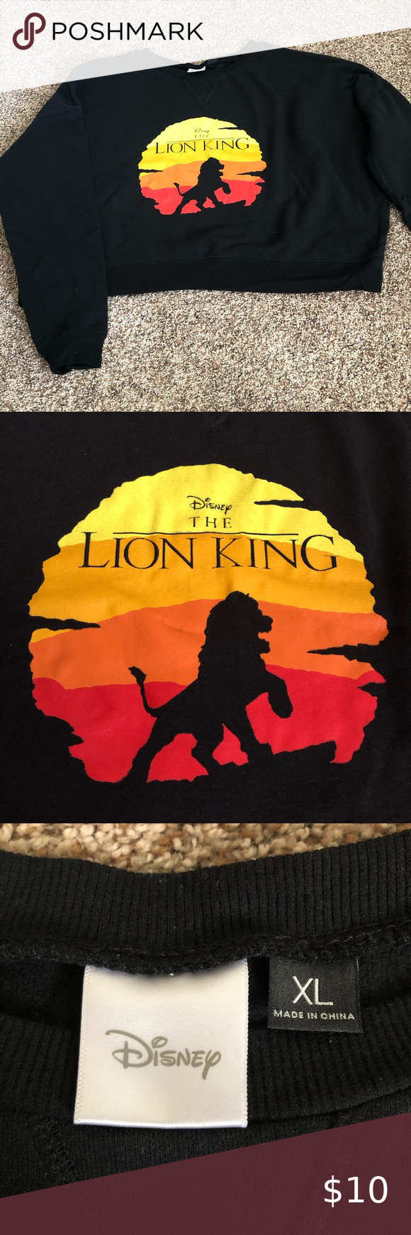 Cropped Lion King Sweatshirt Sweatshirts Disney Sweaters Lion King [ 1740 x 580 Pixel ]