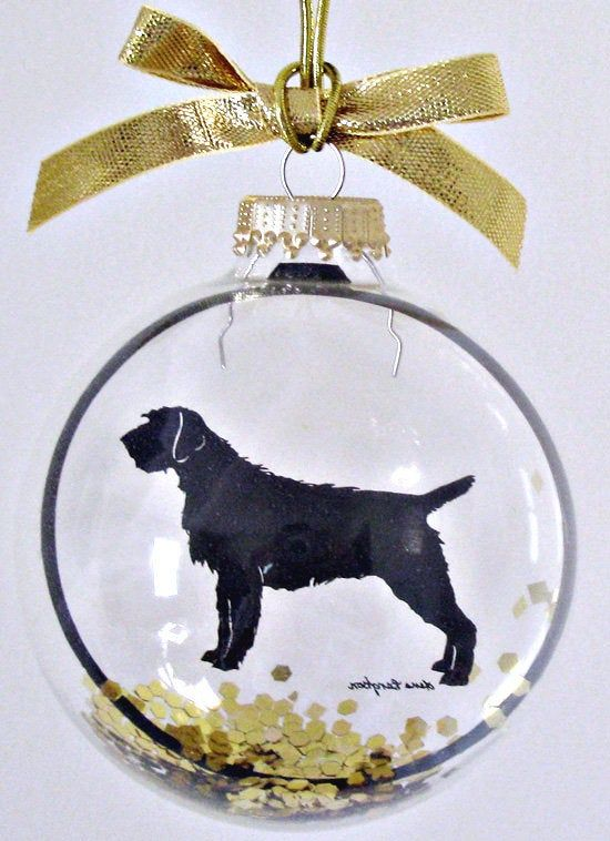 Wirehaired Pointing Griffon Ornament, Silhouette, Gifts ...