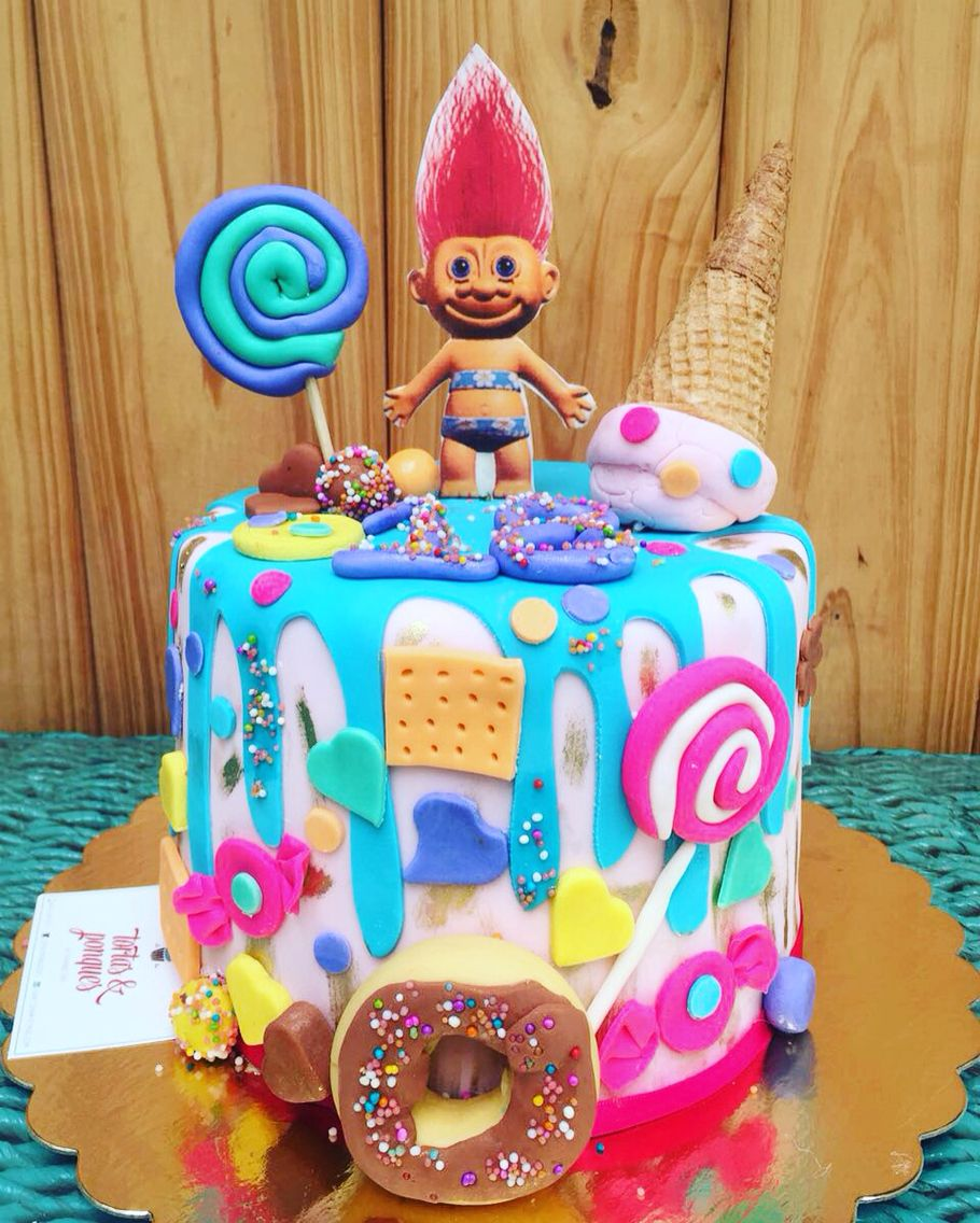 Troll cake cakes tortas pinterest cake birthdays